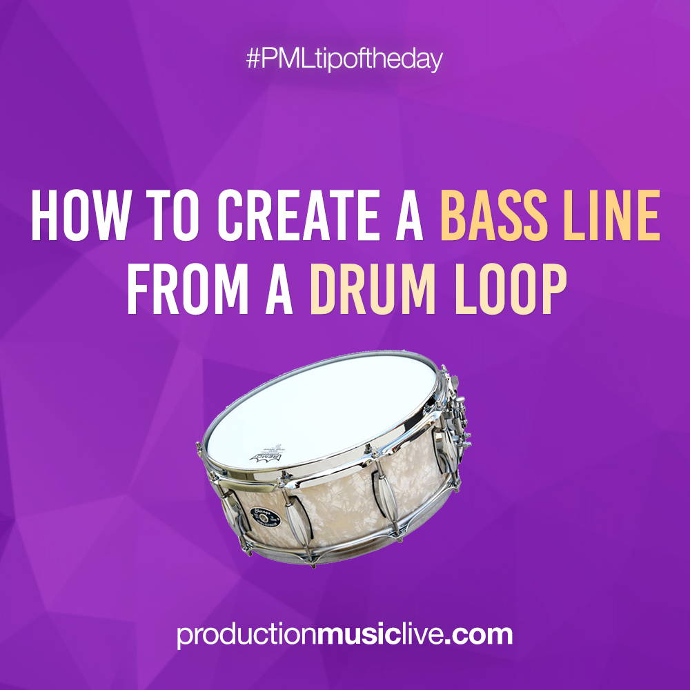How to create bass lines from drum loops