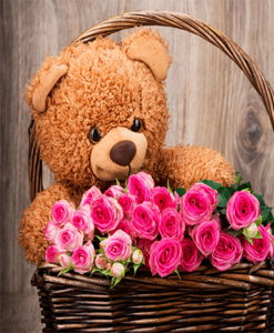 BF Cute Teddy with Roses
