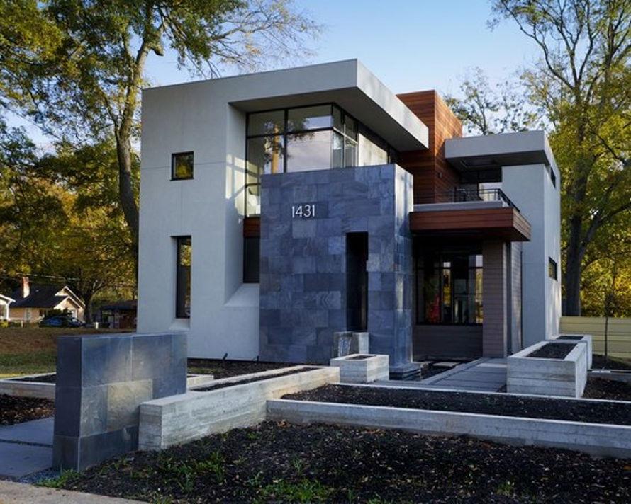 Fachadas de casas modernas: anteriormente la piedra, ladrillo y ...