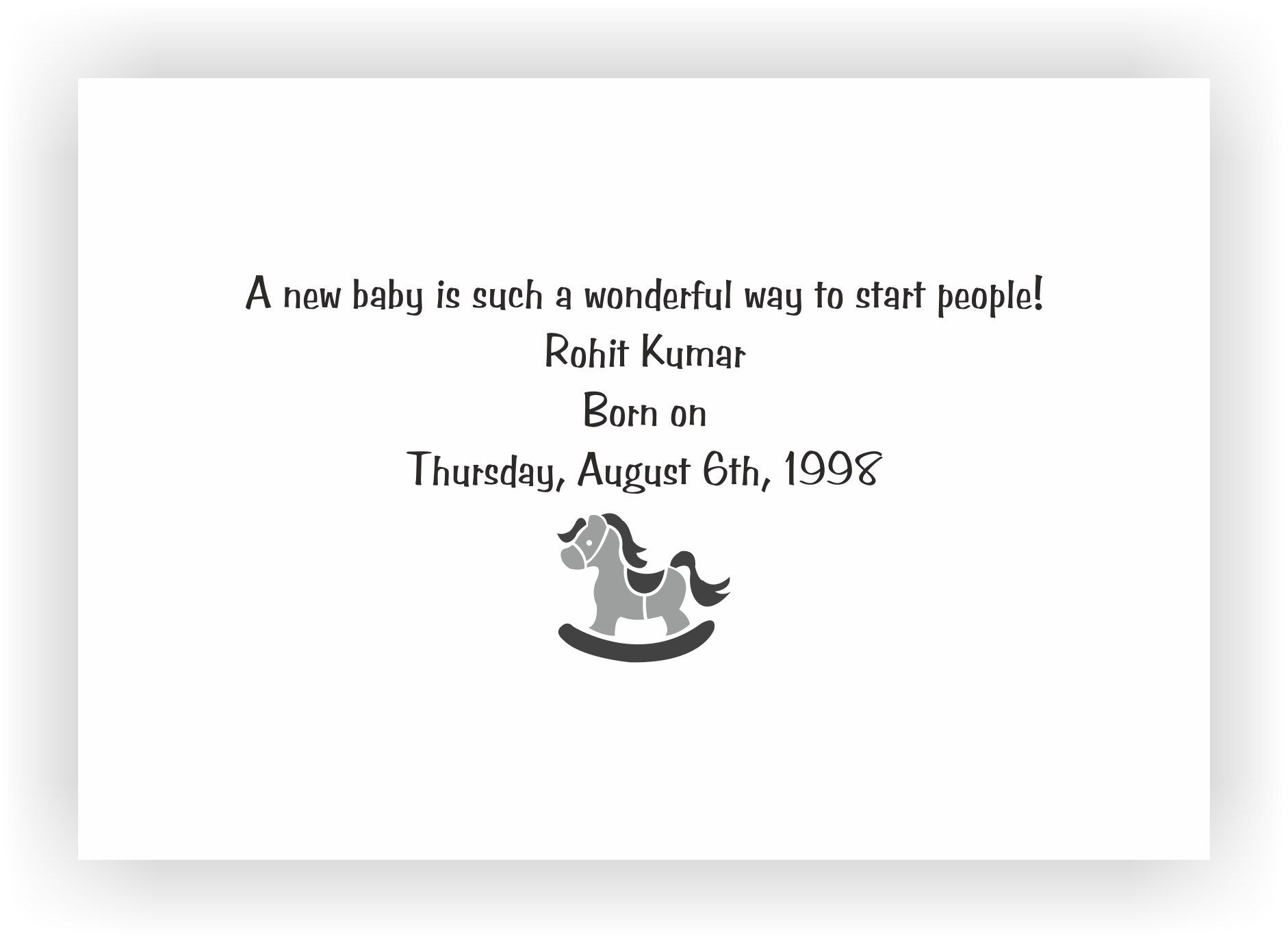 Baby Boy Announcement Message 02