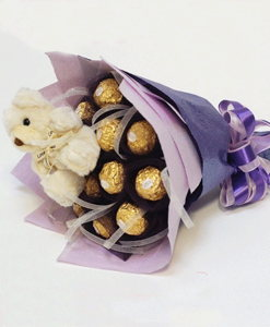 BF Teddy & Chocolate Bouquet