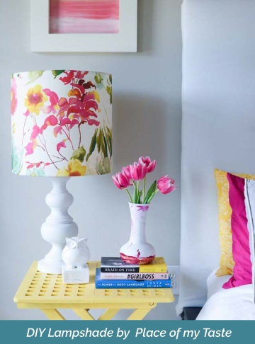 How to make a drum lampshade using your own fabric