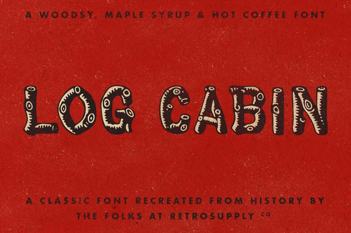 Log Cabin Font Retrosupply Co