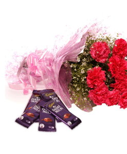BF Carnations With Chocolates