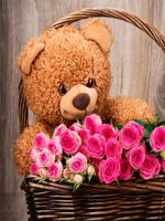 HF Cute Teddy with Roses