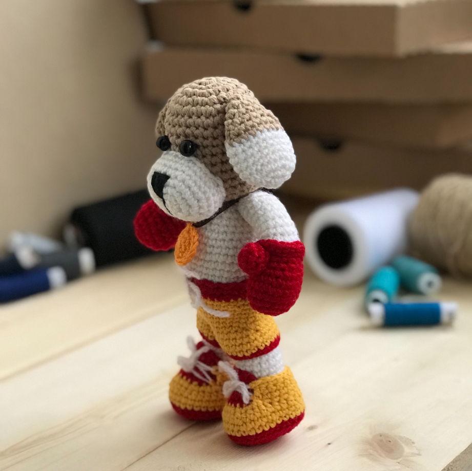 Амигуруми. Вязание крючком игрушки собачки в стиле амигуруми со схемами 7