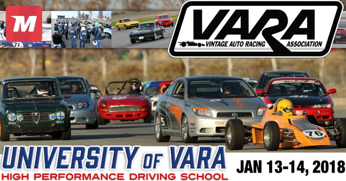 VARA UNIVERSITY 2018 info on Jan 13, 2018 (715948) | MotorsportReg.com