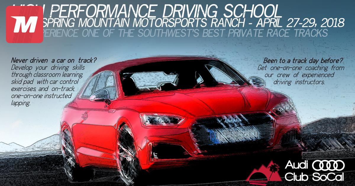Audi Club SoCal Spring Mountain Info On Apr - Socal audi dealers
