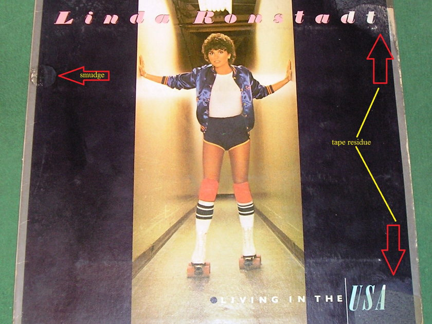 LINDA RONSTADT 3-LP COLLECTION - *LIVING/USA; PRISONER; & GREATEST Vol 1 ** SOLD AS IS ** - RADIO STATION INVENTORY