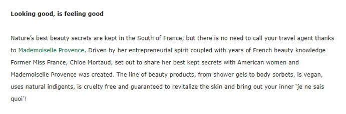 WholeFoods - Mademoiselle Provence