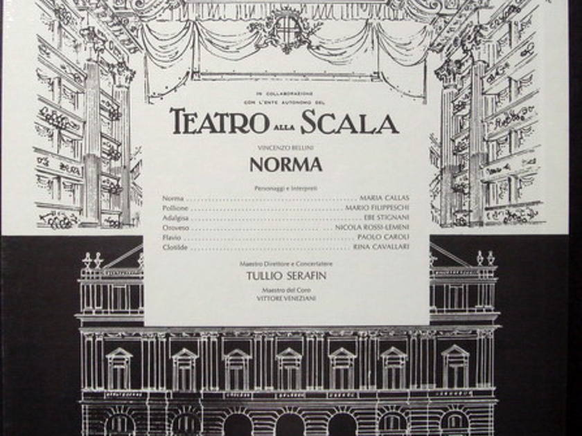 ★Sealed★ EMI SERAPHIM / CALLAS-SERAFIN, - Bellini Norma, 3LP Box Set!
