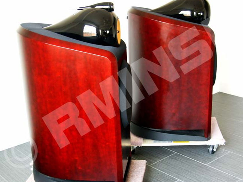B&W 801 Nautilus Red-Stained Cherry Powerful Speakers in Excellent shape