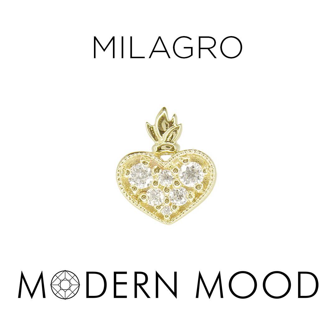 burning heart corazon milagro diamond piercing jewelry