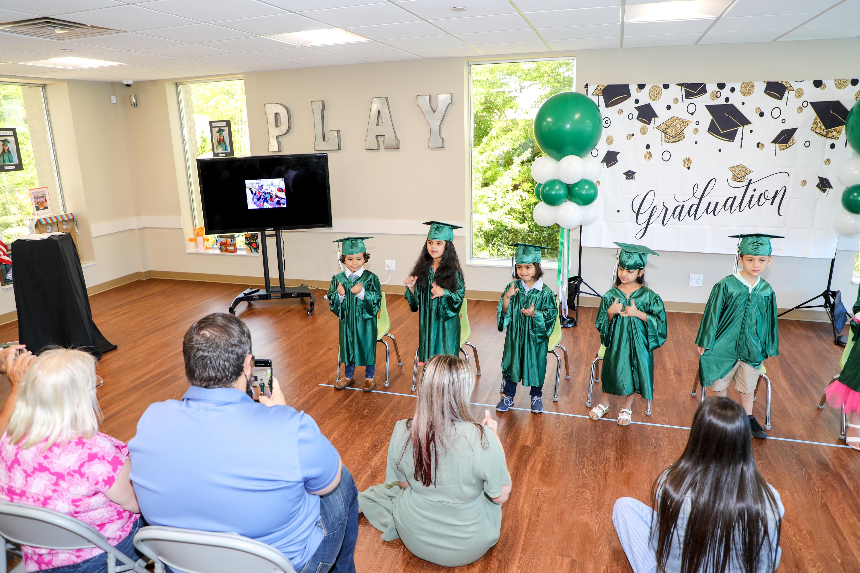 Pre-K Graduation Class 2021 from Primrose School of Woodbury NY