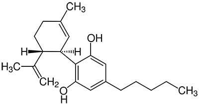 The structural form of cannabidiol CBD