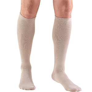 Men's Knee High Dress Socks in Tan