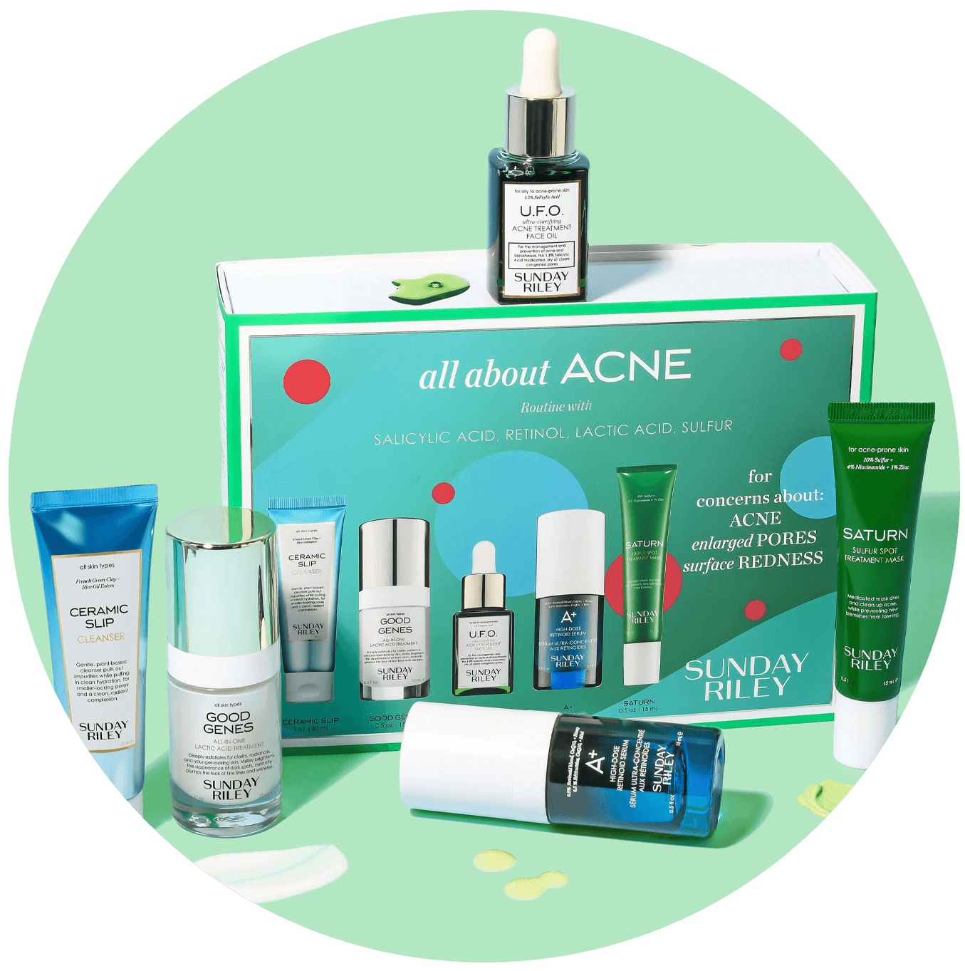 A complete acne-fighting routine toreduce the look of blemishes and future breakouts.