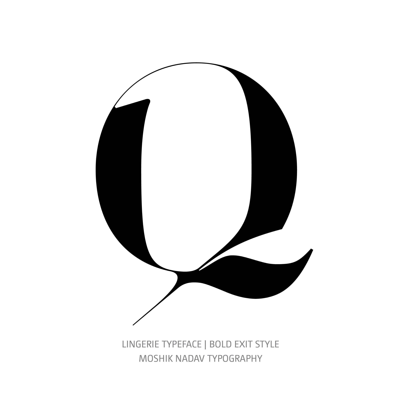 Lingerie Typeface Bold Exit Q