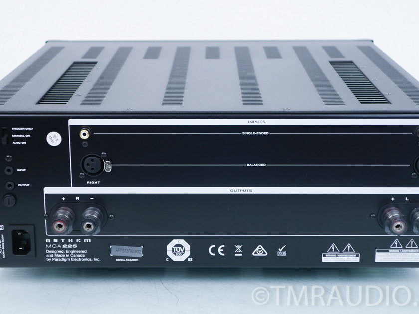 Anthem MCA225 Stereo Power Amplifier; MCA-225 (8079)