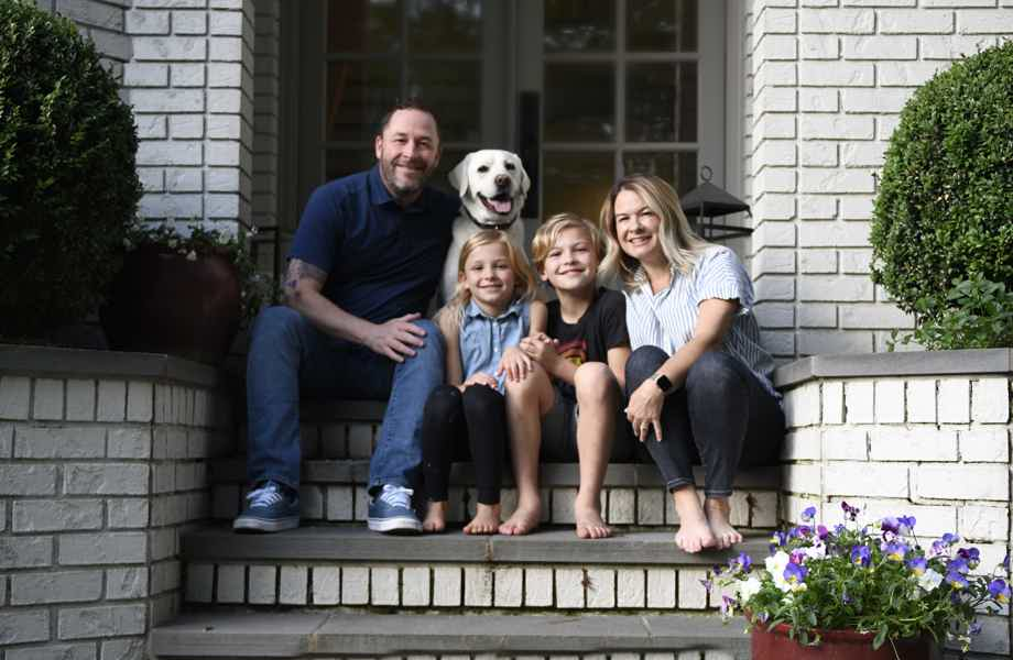 Franchise Owners of Primrose School Keri and Carl Stoltz with their family
