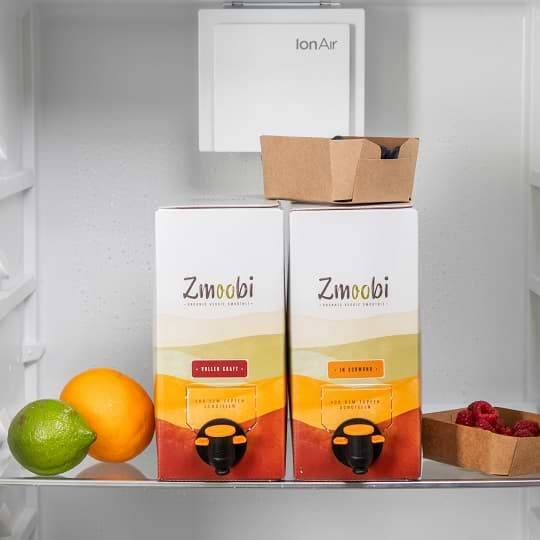 Gemüse Obst Smoothie gekühlt im Kühlschrank