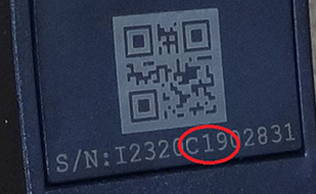 xo four headset serial number
