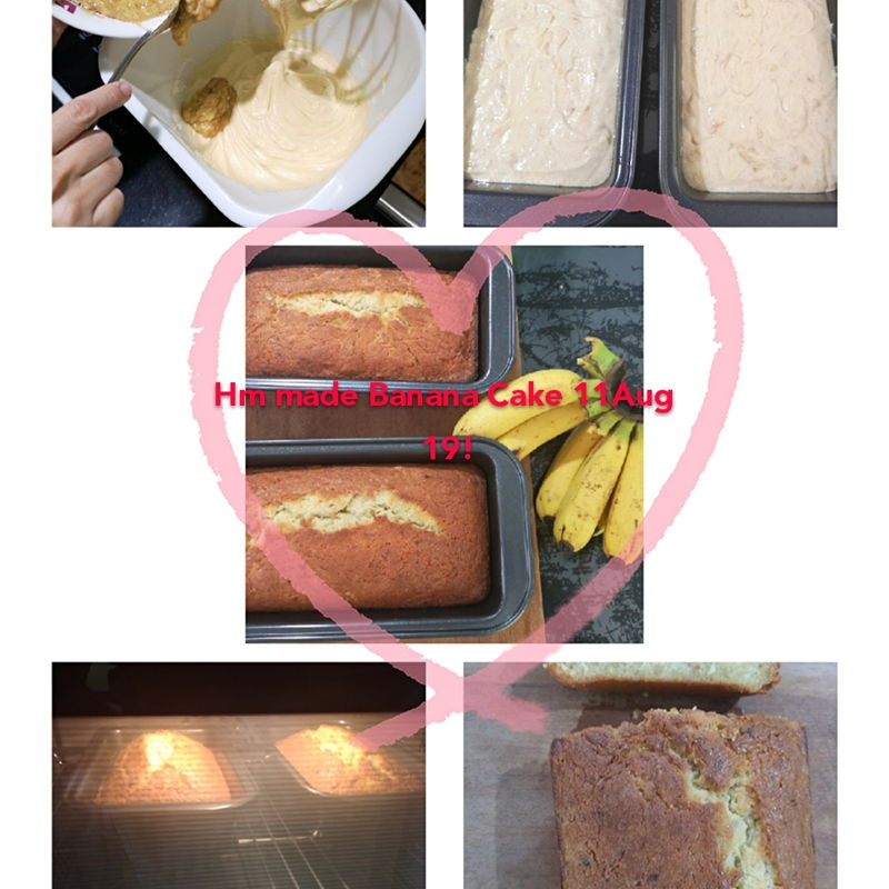 Long Ph in sin... Great! I bake Banana cake... Crispy outside, inner moist, smell of the fresh banana... Just in time for Tea break! Cup of coffee with this Banana cake... Its just so heavenly! Tks grace but I add a little Vanilla essence n extra Banana!
