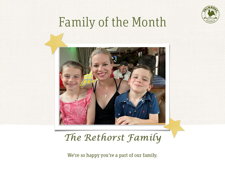 Congratulations to March's Family of the Month, the Rethorst family!