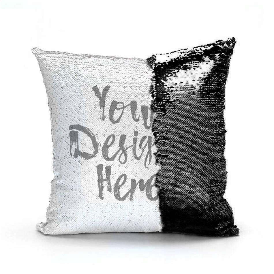 Black Custom Mermaid Pillow
