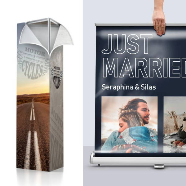 SEG & Pop Up Banner - Silicone Edged Graphics - Retractable Banner