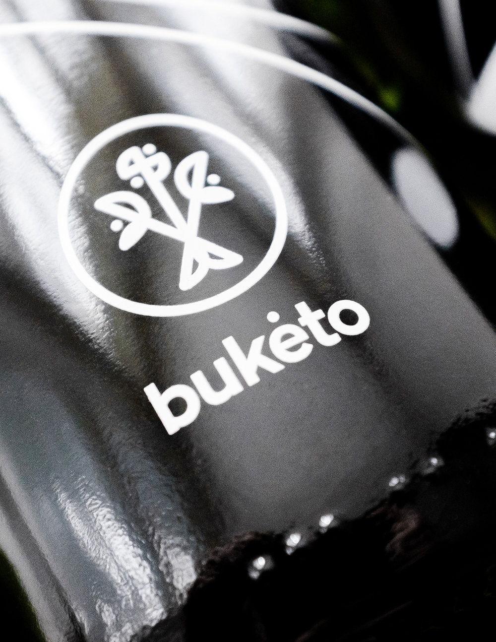 Buketo wine bottle design by Lazy snail Design