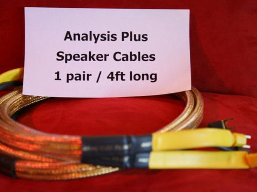 Analysis Plus Golden Oval 4' pr Ref Gold Speaker Cables!