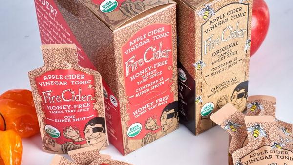 Fire Cider Single Packs Packaging Design