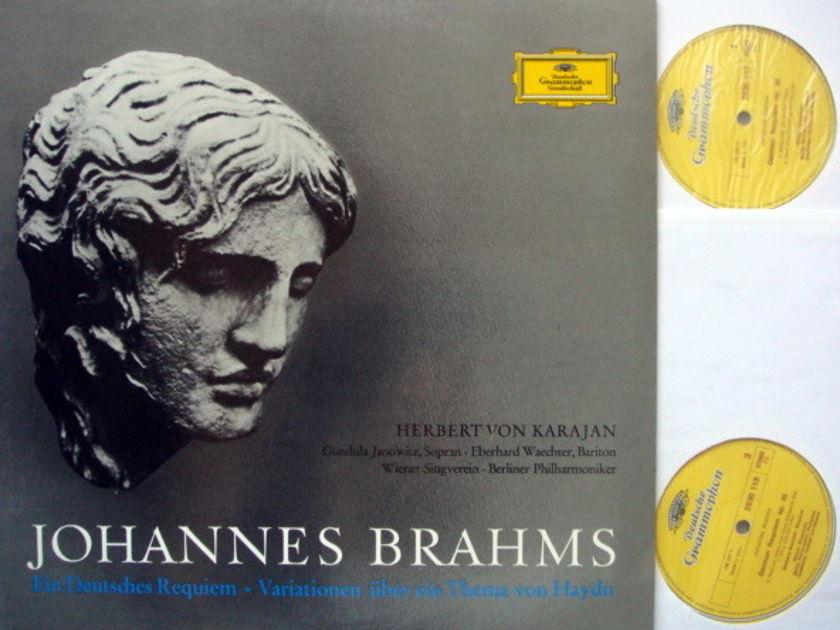 DG / Brahms A German Requiem, - KARAJAN/BPO, MINT, 2LP Set!