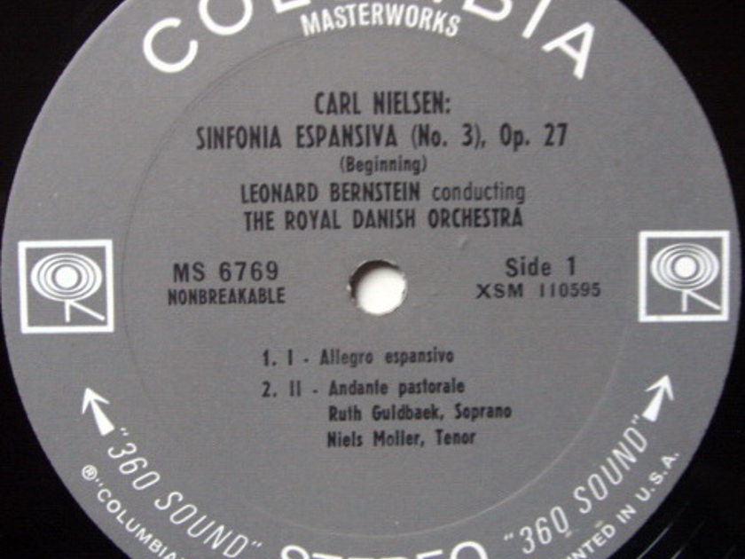 Columbia 2-EYE / LEONARD BERNSTEIN, - Nielsen Symphony No.3, MINT!