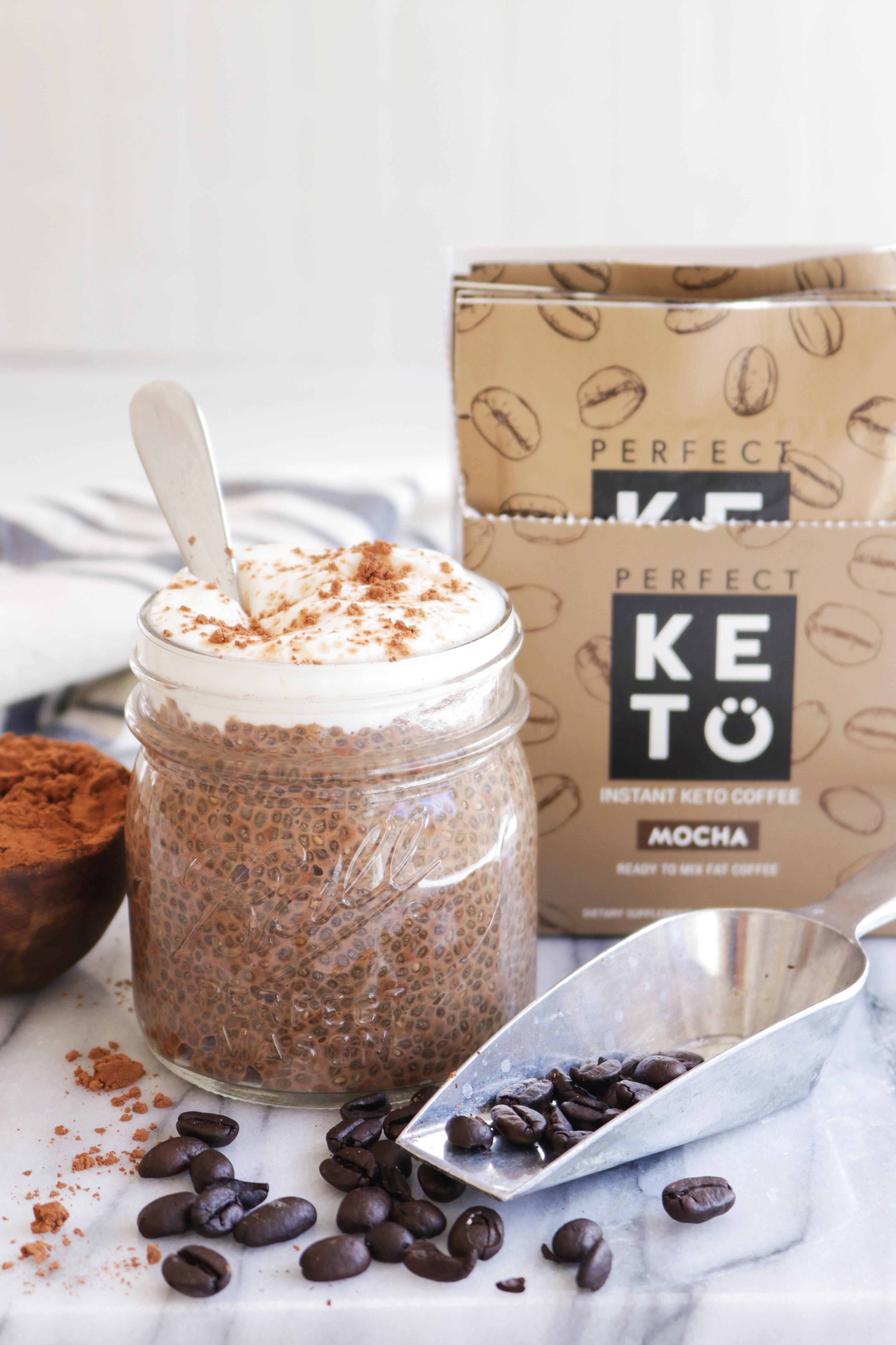 3-Ingredient Keto Mocha Chia Pudding