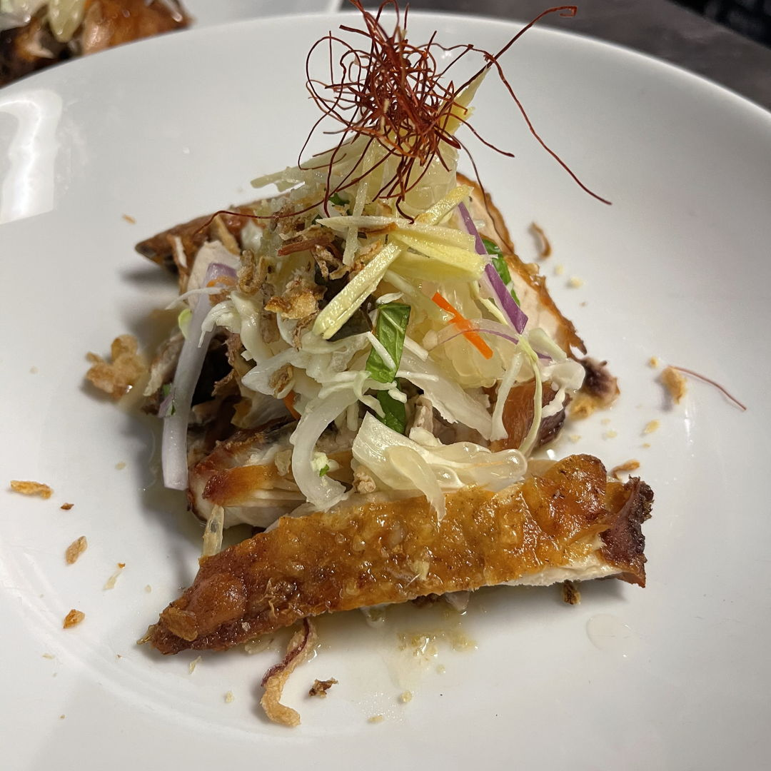 Crispy Fried Chicken with Pomelo Salad