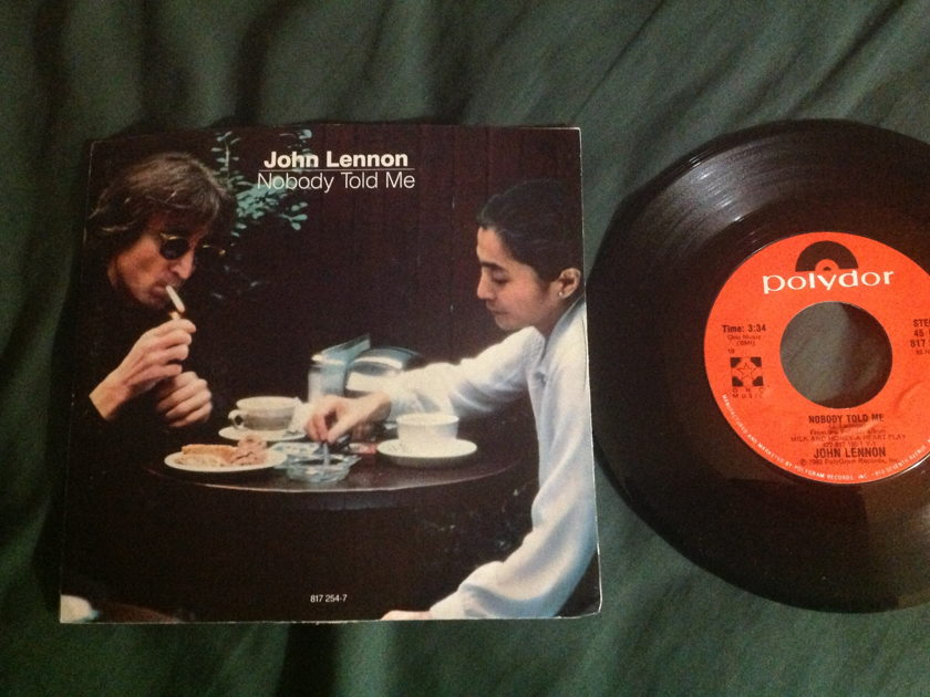 John Lennon/Yoko Ono - Nobody Told Me 45 With Sleeve