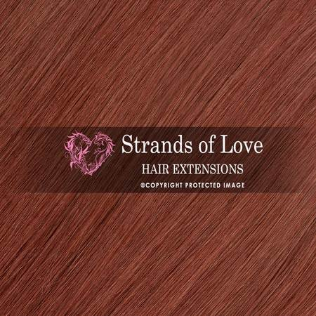 Strands Of Love Hair Extensions Colour Dark Auburn