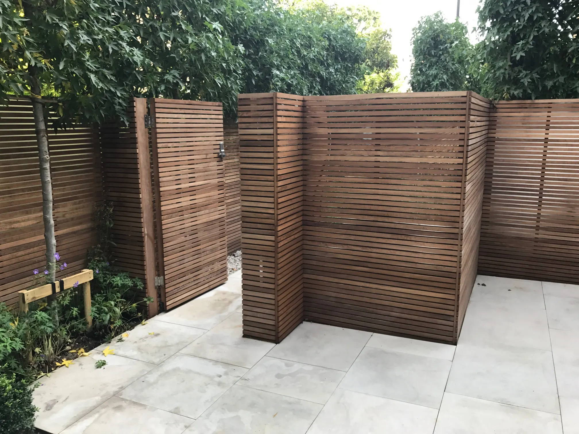 Contemporary Slatted Fencing