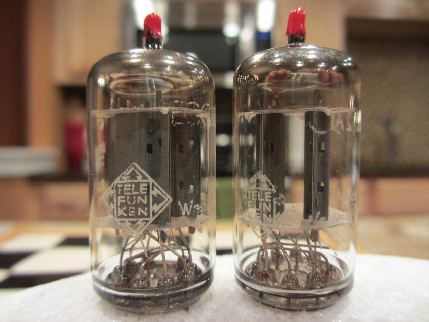 Telefunken <>(Vintage Tube Services) 12AU7 / ECC82 Matched Pair NOS SELECTED NOS TELES; VTS!