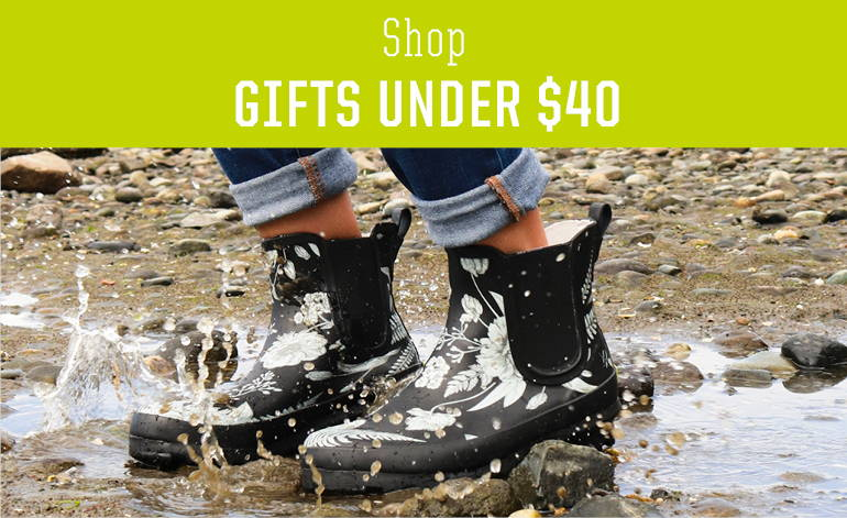 Shop holiday gifts under $40 for women. Slippers, rain boots, and clogs - perfect Christmas gifts.