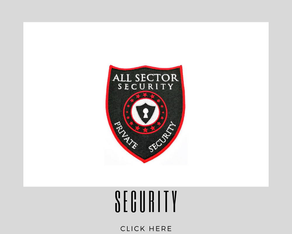 Custom Embroidery Patches Security Corporate