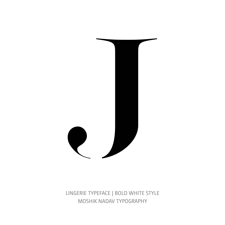 Lingerie Typeface Bold White J