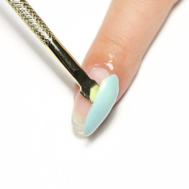 Nail care, Gloss, Liquid, Manicure, Service, Nail polish, Thumb, Peach, Nail, Cosmetics