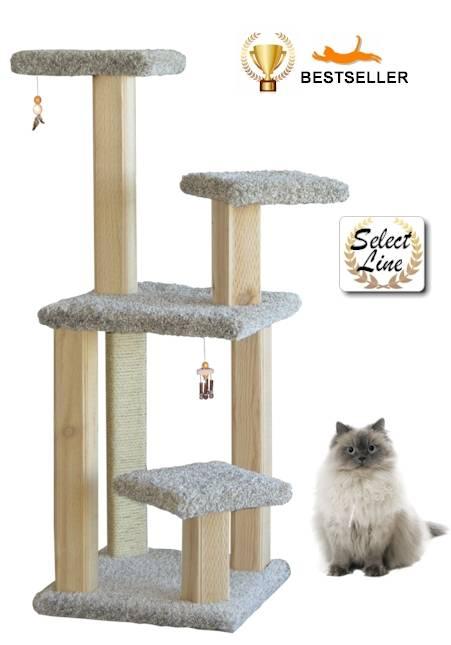 ActiveCat Spires model intergrooved wood scratching post