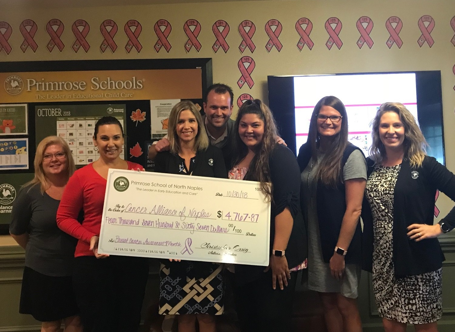 Check Presentation to Cancer Alliance of Naples
