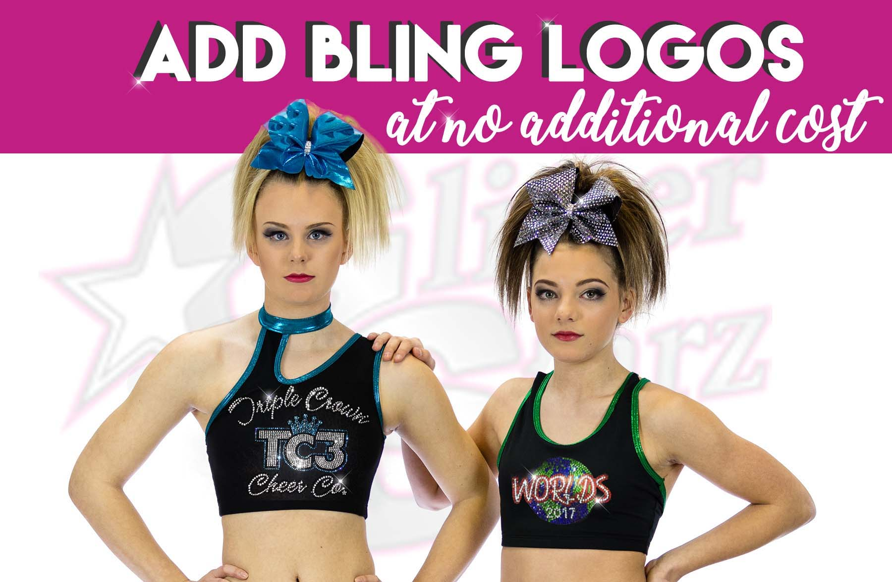 add bling logos at no additional cost to practicewear teamwear