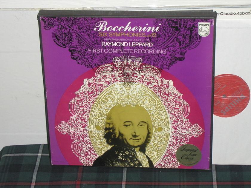 Leppard/NPO - Boccherini 6 Symphon 3LP Philips Import 6500 3lp box