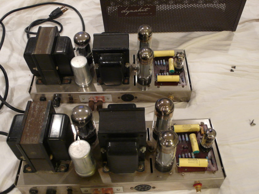 Dynaco (Dyna) MKIV Mark IV mono tube amplifiers